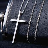 十字架項錬男士鈦鋼歐美情侶學生潮女吊墜飾品    9號潮人館