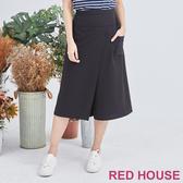 【RED HOUSE 蕾赫斯】口袋褲裙(黑色)