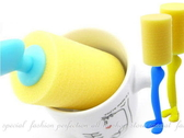【DM350】紳士先生杯刷 趣味糖果色杯刷 可站立海綿刷 站立式奶瓶刷~不挑色~★EZGO商城★