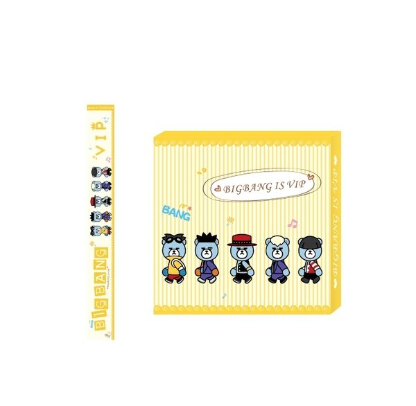 star 明星周邊 - BIGBANG權志龍GD爆炸熊周邊同款top卡通可愛Q版公仔DIY和紙膠帶 -F116