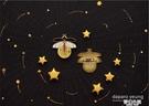 螢火蟲胸針原創設計夜光熒光創意小眾百搭別針徽章首飾禮物 夢幻小鎮