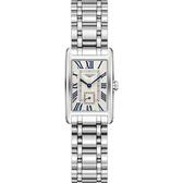 LONGINES 浪琴 DolceVita 獨立小秒針石英女錶-銀/21mm L52554716