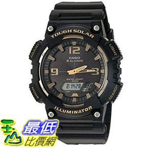 [美國直購] 手錶 Casio Mens Tough Solar Quartz Stainless Steel and Resin Automatic Watch Black AQ-S810W-1A3VCF