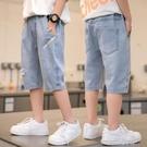 男童短褲夏裝季新款薄中大童牛仔褲外穿兒童褲子七分男孩胖寬鬆潮 一米陽光