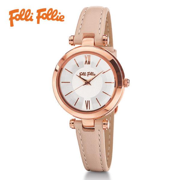 Folli Follie LADY BUBBLE腕錶-白X玫瑰金