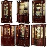 紅酒櫃歐式酒柜 美式酒柜客廳酒柜 紅酒柜子裝飾柜酒柜儲物柜展示柜
