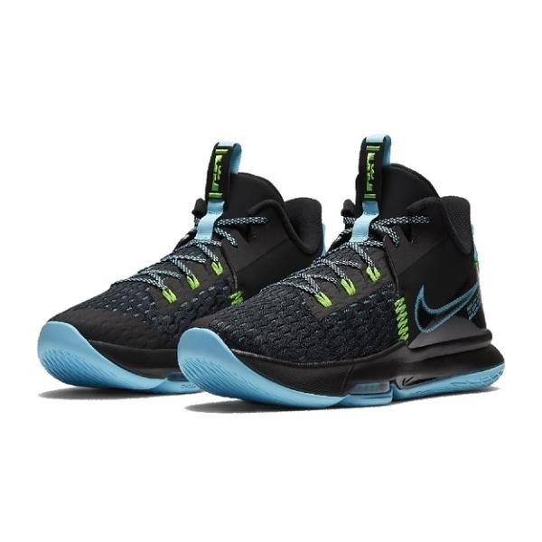NIKE籃球鞋 LEBRON系列 WITNESS V EP 男黑藍款 CQ9381004