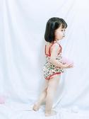 卡通西瓜小寶寶游泳衣可愛韓國連體裙式中大童兒童泳裝女度假海邊