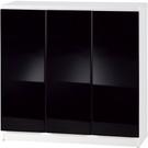 【藝匠】3尺三密門鏡面PU書櫃 收納櫃 書櫃 書房 家具 置物櫃 櫃子 收藏 組合櫃 (黑)