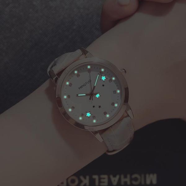 新款可愛時尚女孩兒童手錶女學生正韓簡約休閒夜光防水女士電子表HPXW