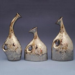電鍍陶瓷 花瓶 花插