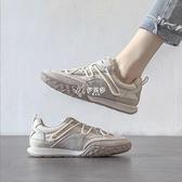新款超纖耐折皮面拼接舒適輕便運動鞋百搭小白鞋