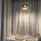 網紅款魔術貼窗簾免打孔安裝遮光臥室少女小飄窗自黏簡易黏貼式布 喜迎新春