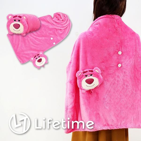 ﹝迪士尼娃娃造型毯﹞正版 冷氣毯 披肩毯 刷毛毯 捲毯 毯子 熊抱哥〖LifeTime一生流行館〗
