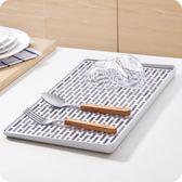 多功能雙層瀝水盤塑料長方形置物架 創意廚房托盤茶盤家用水果盤-Ifashion IGO