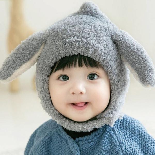母嬰專營店 毛茸茸長耳免免護耳帽 (0-3Y) 秋冬保暖配件 童帽 寶寶帽 冬帽 毛帽 針織帽【JD0086】