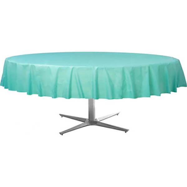 塑膠圓桌巾-蒂芬妮藍
