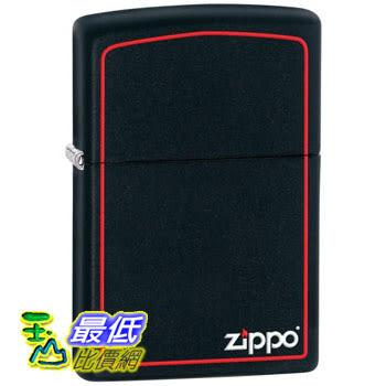[104 美國直購] Zippo Black Matte Lighter with Border 打火機