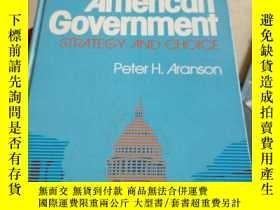 二手書博民逛書店AMERICAN罕見GOVERNMENT:STRATEGY AN