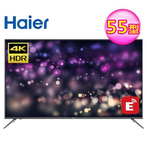 【Haier 海爾】55型 4K HDR 智慧連網顯示器+視訊卡(55K6000U) 【8月限定-送基本安裝+海爾14吋DC風扇】