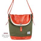 橄欖綠疊層側背包   AMINAH~【am-0274】