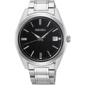 【台南 時代鐘錶 SEIKO】精工 CS系列簡約大三針時尚腕錶 SUR311P1@6R52-00A0D 銀 40mm