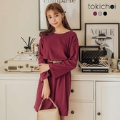 東京著衣-tokicho-高質感舒適多色簡約百搭腰鬆緊洋裝(172848)