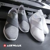 美國AIR WALK 401彈性交叉繃帶懶人鞋-灰