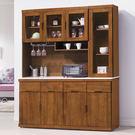 【森可家居】凱西柚木5.3尺石面餐櫃 7HY428-4 高廚房收納櫃 日系無印風