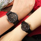 ALBA / VJ42-X304SD.VJ22-X324SD / 簡約時尚 藍寶石水晶玻璃 日期 不鏽鋼手錶 情人對錶 鍍黑 41mm+29mm