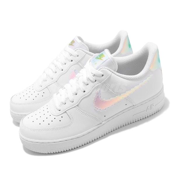 Nike 休閒鞋 Air Force 1 07 LV8 白 彩色 炫彩 男鞋 像素勾勾 AF1 【ACS】 CV1699-100
