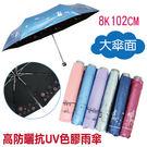 【防曬雨傘】抗UV色膠折傘 大傘面-102cm