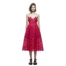 洋裝-細肩帶紅色鏤空蕾絲露背女連身裙73pu82【巴黎精品】