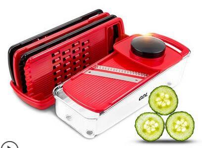 GDL切菜器多功能刨絲廚房切菜神器切片機磨蓉切薯條擦土豆絲家用