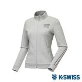 K-SWISS Jersey Jacket 韓版運動外套-女-灰