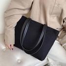 包包女新款韓國帆布手提購物袋清新春夏托特包少女斜挎單肩包 3C優購