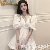 新款名媛日常宴會氣質小禮服生日派對洋裝小個子平時可穿 青木鋪子