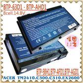ACER 電池-宏碁 電池- EXTENSA 2600,2603,BTP-63D1,BTP-AHD1,BTP-96H1,91.49Y28.002