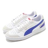Puma 復古休閒鞋 Ralph Sampson Lo Vintage 男鞋 白 藍 板鞋【ACS】 37176701