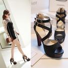 大尺碼女鞋34~43 歐美時尚百搭繞帶魚...