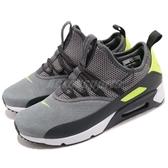 Nike 慢跑鞋 Air Max 90 EZ 灰 白 襪套式 透氣鞋面 男鞋 中筒 運動鞋【PUMP306】 AO1745-003