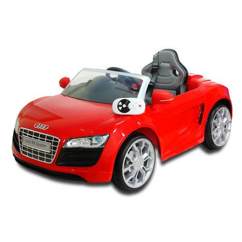 [家事達]  Audi奧迪R8 兒童可遙控電動車 (紅/白色) 特價   授權車