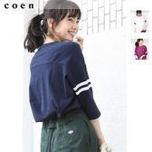 長版t恤 寬版上衣 oversize 美國棉 日本品牌【coen】