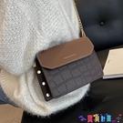 小方包 流行鍊條小包包女包2021秋冬新款潮時尚百搭斜背包網紅撞色小方包寶貝計畫 上新