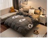 簡約學生宿舍單人三件套床上用品四件套雙人1.5/1.8m床單被套  夢想生活家