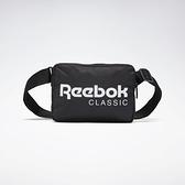 REEBOK 側背包 小側背包 黑底 白LOGO 小包包 肩包 基本款 (布魯克林) FL5418
