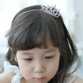 UNICO 韓版 兒童公主風小皇冠水鑽造型髮箍