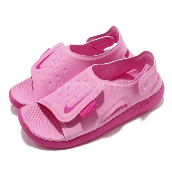 Nike 涼鞋 Sunray Adjust 5 GS PS 粉紅 小朋友 中童鞋 大童鞋 涼拖鞋【ACS】 AJ9076-601