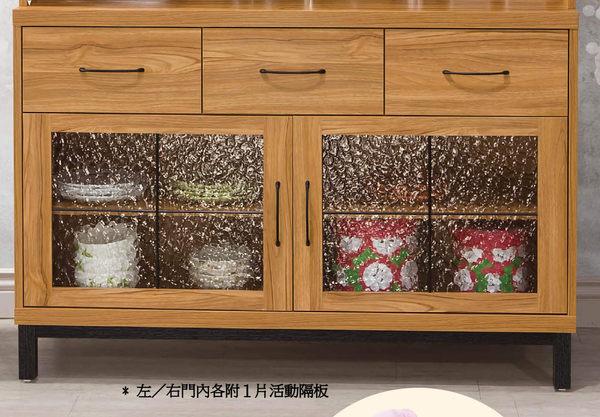 【南洋風休閒傢俱】組合櫃系列 -咖啡 收納  展示櫥櫃  碗碟 克洛澤4尺餐櫃-下座(JH921-3)