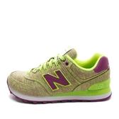 New Balance WL574 [WL574GGP] 女鞋 休閒 經典 運動 綠 紫 總統
